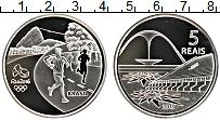 Изображение Монеты Бразилия 5 рейс 2015 Серебро Proof