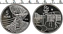 Изображение Монеты Бразилия 5 рейс 2014 Серебро Proof Олимпиада в Рио. Вол