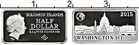 Изображение Монеты Соломоновы острова 1/2 доллара 2015 Серебро Proof Елизавета II.Вашингт