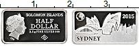 Изображение Монеты Соломоновы острова 1/2 доллара 2015 Серебро Proof Елизавета II.Сидней