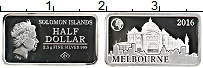 Изображение Монеты Соломоновы острова 1/2 доллара 2016 Серебро Proof Елизавета II. Мельбу