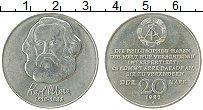 Изображение Монеты ГДР 20 марок 1983 Медно-никель UNC- Карл Маркс, А