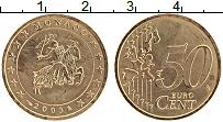 Продать Монеты Монако 50 евроцентов 2003 Латунь
