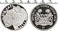 Изображение Мелочь Сьерра-Леоне 1 доллар 2020 Медно-никель UNC Большие кошки. Тигр