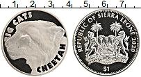 Изображение Мелочь Сьерра-Леоне 1 доллар 2020 Медно-никель UNC Большие кошки. Гепар