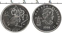 Изображение Монеты Канада 25 центов 2008 Медно-никель UNC Елизавета II. Олимпи