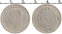 Изображение Монеты Швеция 1 крона 1945 Серебро VF Густав V