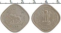 Изображение Монеты Индия 2 анны 1955 Медно-никель VF Редкая монета ! Крау