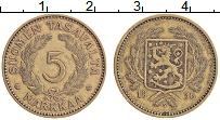 Изображение Монеты Финляндия 5 марок 1936 Латунь XF Герб