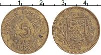 Изображение Монеты Финляндия 5 марок 1946 Латунь XF Герб