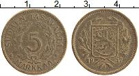 Изображение Монеты Финляндия 5 марок 1947 Латунь VF Герб