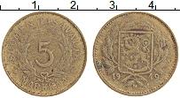 Изображение Монеты Финляндия 5 марок 1949 Латунь VF Герб