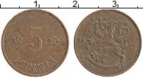 Изображение Монеты Финляндия 5 пенни 1922 Медь XF
