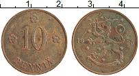 Изображение Монеты Финляндия 10 пенни 1935 Медь XF Герб