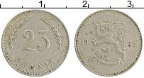 Изображение Монеты Финляндия 25 пенни 1927 Медно-никель XF