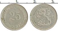 Изображение Монеты Финляндия 25 пенни 1939 Медно-никель XF