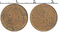 Изображение Монеты Финляндия 25 пенни 1941 Медь XF Герб