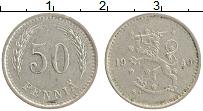 Изображение Монеты Финляндия 50 пенни 1940 Медно-никель XF Герб