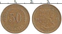 Изображение Монеты Финляндия 50 пенни 1941 Медь XF