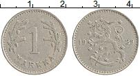 Изображение Монеты Финляндия 1 марка 1929 Медно-никель XF Герб