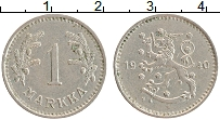 Изображение Монеты Финляндия 1 марка 1940 Медно-никель XF Герб