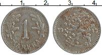 Изображение Монеты Финляндия 1 марка 1943 Железо XF