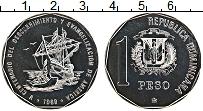 Продать Монеты Доминиканская республика 1 песо 1989 Медно-никель
