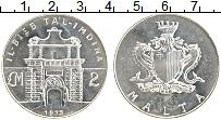Изображение Монеты Мальта 2 фунта 1973 Серебро UNC- Ворота Та л-Имдина