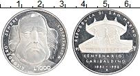 Изображение Монеты Сан-Марино 1000 лир 1982 Серебро Proof- 100 лет со смерти Дж