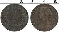 Изображение Монеты Канада Нью-Брансуик 1 цент 1864 Медь XF