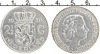 Изображение Монеты Нидерланды 2 1/2 гульдена 1959 Серебро XF