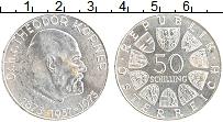 Изображение Монеты Австрия 50 шиллингов 1973 Серебро UNC- 100 лет со дня рожде
