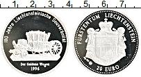 Изображение Монеты Лихтенштейн 20 евро 1996 Серебро Proof-