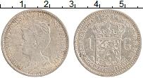 Изображение Монеты Нидерланды 1 гульден 1914 Серебро XF Вильгельмина