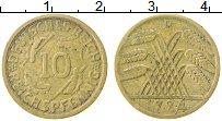 Изображение Монеты Веймарская республика 10 пфеннигов 1924 Латунь XF D