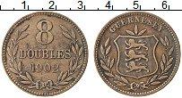 Изображение Монеты Гернси 8 дублей 1902 Медь XF Герб