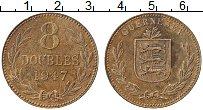 Изображение Монеты Гернси 8 дублей 1947 Медь XF Герб