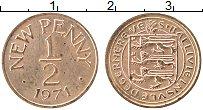 Изображение Монеты Гернси 1/2 пенни 1971 Медь XF Герб