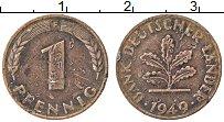 Изображение Монеты ФРГ 1 пфенниг 1949 Медь VF