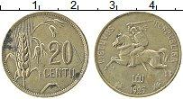 Изображение Монеты Литва 20 центов 1925 Бронза VF