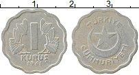 Изображение Монеты Турция 1 куруш 1941 Медно-никель VF Герб