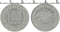 Изображение Монеты Камерун 100 франков 1971 Медно-никель XF Антилопы