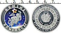 Изображение Монеты Армения 100 драм 2008 Серебро Proof Близнецы.Цифровая пе