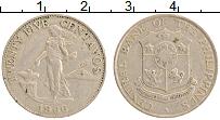 Изображение Монеты Филиппины 25 сентаво 1966 Медно-никель VF Американский протект