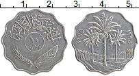 Изображение Монеты Ирак 10 филс 1975 Медно-никель XF Пальмы