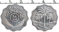Изображение Монеты Ирак 10 филс 1981 Медно-никель UNC- Пальмы