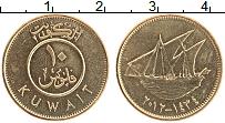 Изображение Монеты Кувейт 10 филс 2012 Латунь UNC-