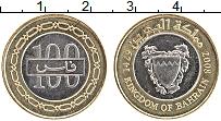 Изображение Монеты Бахрейн 100 филс 2008 Биметалл XF Герб