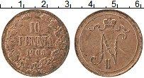 Изображение Монеты Финляндия 10 пенни 1905 Медь XF-