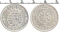 Изображение Монеты Тимор 6 эскудо 1958 Серебро XF Португальская колони